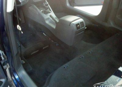Resultado limpieza de tapicería e interior con desmontaje de asientos