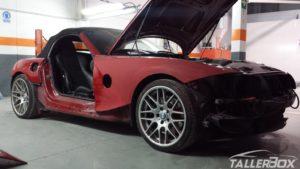 BMW Z4 M en proceso de desmontaje