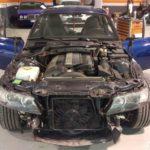 Cambio de color BMW Z3 Coupe. Proceso de desmontaje
