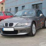 Cambio de color BMW Z3 Coupe. Aspecto final parte frontal en gris sterlinggrau