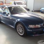 Cambio de color BMW Z3 Coupe. Parte delantera antes de pintar. Azul topasblau