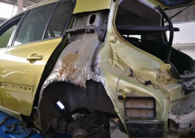 Renault Megane en reparación
