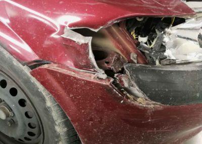 Opel vectra faro roto
